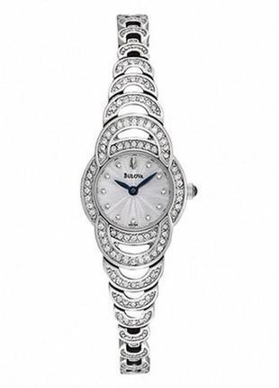 Часы женские с кристаллами svarovski bulova