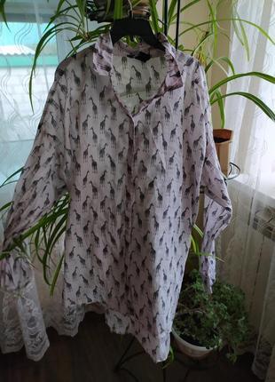 Блузка с жирафами
