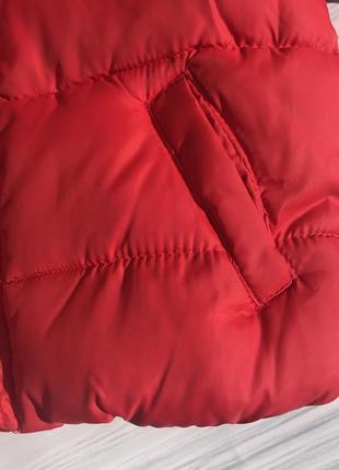 Тёплая куртка демисезонная на флисе с капюшоном6 фото