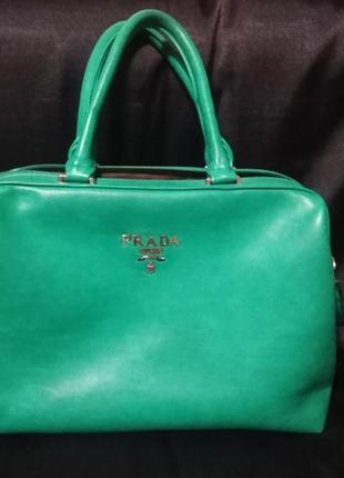 Шикарная сумка-саквояж prada 40*28*15