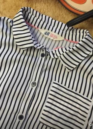 Блузка/рубашка h&m для девочки на 11-12-13лет1 фото