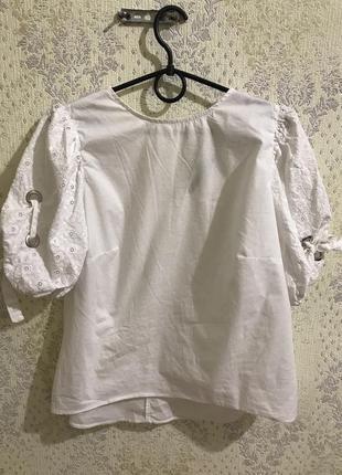 Блуза dilvin с красивыми рукавами блузка