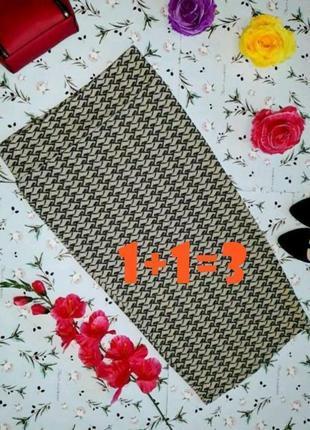 🌿1+1=3 блестящая юбка карандаш миди river island на завышенной талии, размер 44 - 46