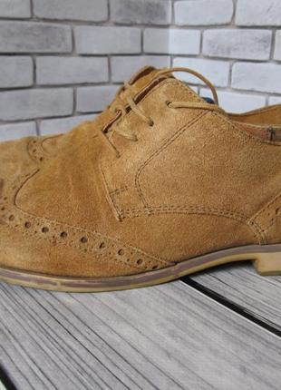 Замшевые туфли броги redherring