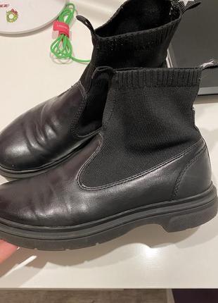 Деми ботинки zara p 36, стелька 22,35 фото