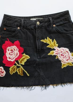 Красивая джинсовая юбка  topshop,size 10.