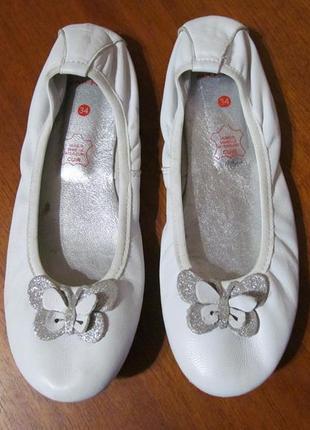 Красивые, кожаные балетки naf naf