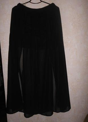 Длинная прозрачная юбка в пол