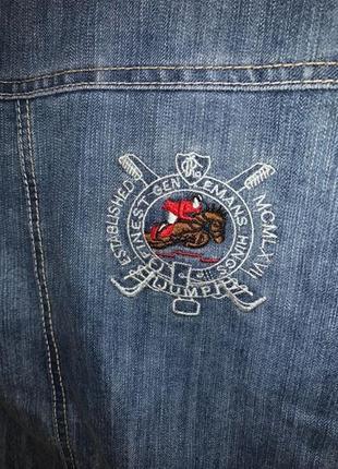 Стильный брендовый джинсовый костюм для мальчика джинсовка и джинсовые штаны3 фото