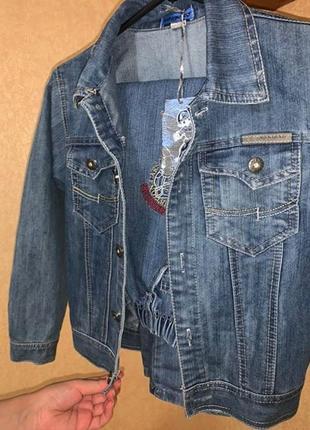 Стильный брендовый джинсовый костюм для мальчика джинсовка и джинсовые штаны5 фото