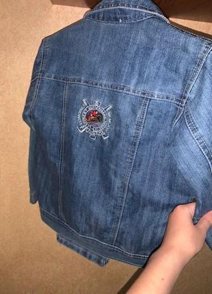 Стильный брендовый джинсовый костюм для мальчика джинсовка и джинсовые штаны4 фото
