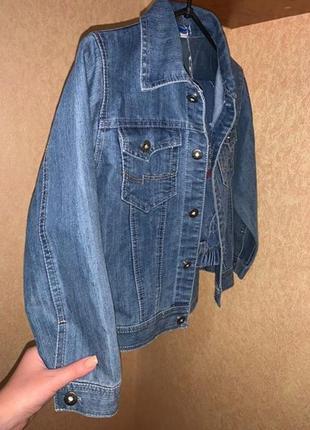Стильный брендовый джинсовый костюм для мальчика джинсовка и джинсовые штаны9 фото