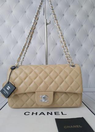 Классическая  кожаная сумка в стиле chanel,  шанель!