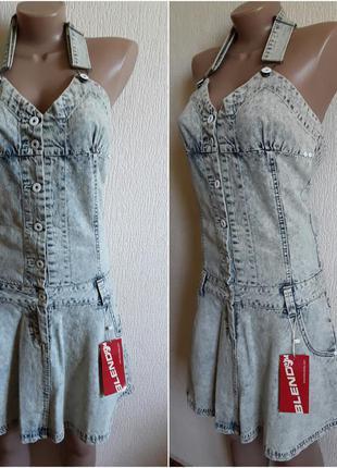 Джинсовое платье -сарафан