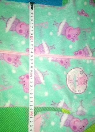 Теплая плюшевая пижама свинка пеппа4 фото