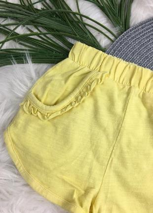 Лимонные/жёлтые шортики на 12-18 мес2 фото