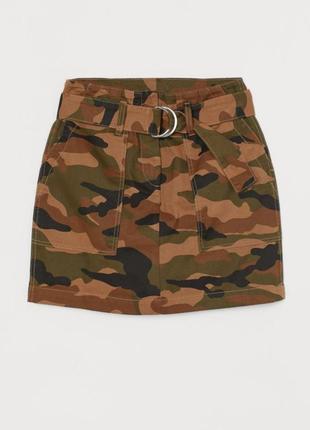 Женская юбка милитари h&m р.m 38