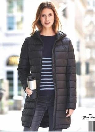Ультралегкое стёганное стильное деми пальто от blue motion, размер м (евро 40-42)
