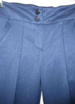 Брюки школьные синие классические для девочки размер 134-1404 фото