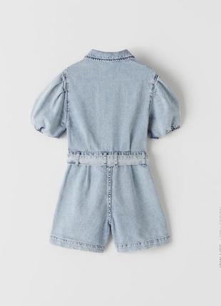 Zara! 2020! невероятный джинсовый комбинезон 134см2 фото