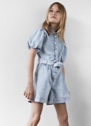 Zara! 2020! невероятный джинсовый комбинезон 134см3 фото