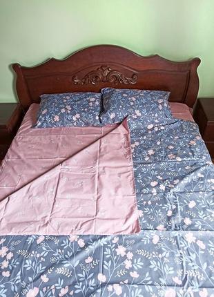 Комплект постельного белья розовые цветочки