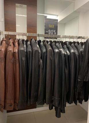 Итальянские кожаные м/ж куртки по 100$ !