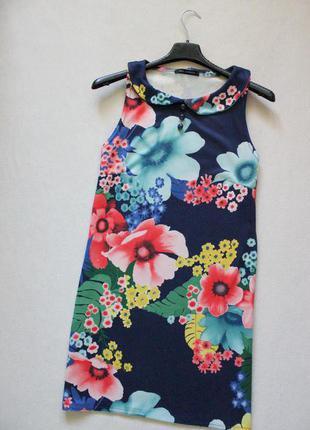 Милое цветочное платье с воротничком qed london
