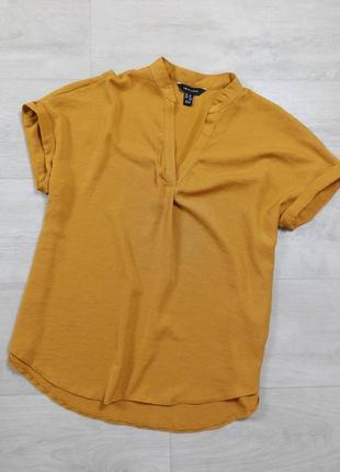 Горчичная блуза