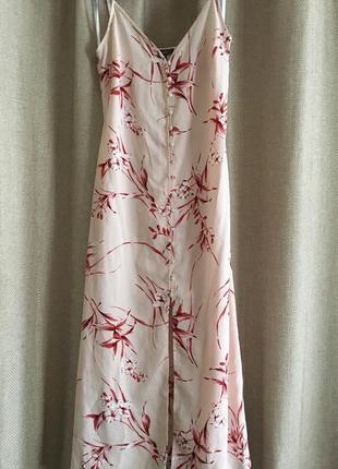 Платье/сарафан макси, на пуговицах, 12размер