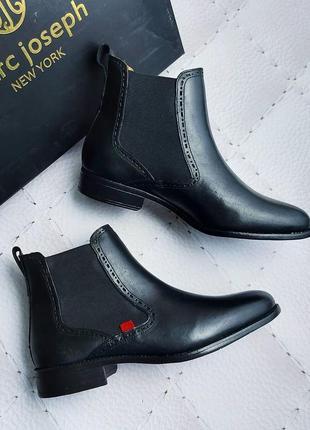 Marc joseph new york оригинал кожаные черные ботинки челси