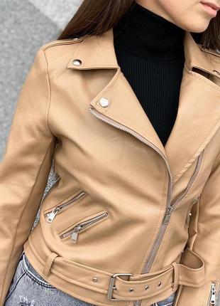 Куртка косуха в цвете мокко ❤️эко-кожа, супер цена и качество