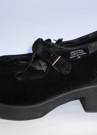 Туфли на широкую ножку р.39