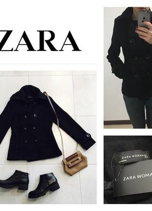 Классическое короткое пальто zara,скидки на все 50% до 13 мая