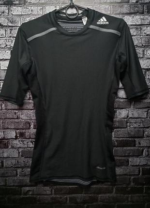 Компрессионная футболка adidas techfit chill short sleeve m grafitowa оригинал