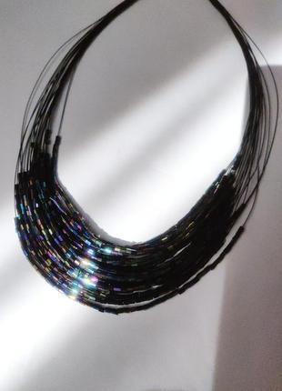 Ожерелье колье украшение на шею из бисера стекляруса