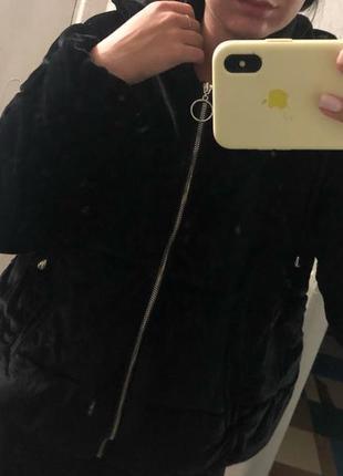 Бархатная женская куртка