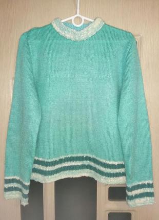 Пуловер с отделкой