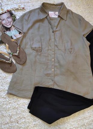 Трендовая рубашка ,блузка 100%льон!!
