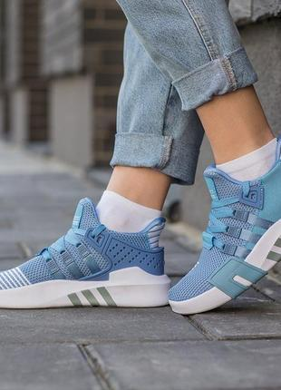 Adidas eqt bask adv blue 🆕 женские кроссовки адидас еквипмент 🆕 белый/голубой