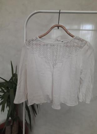 Нежная блуза с кружевом от zara
