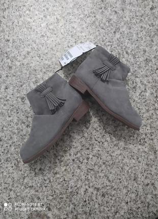 Демисезонные ботинки ботиночки полусапожки челси на девочку h&m