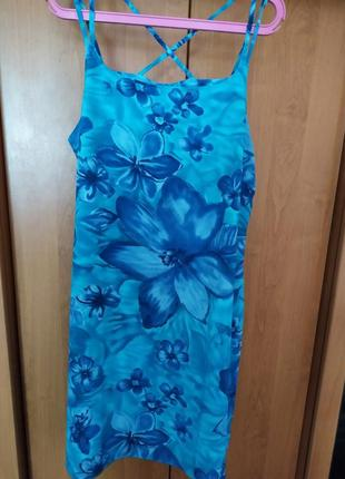 Батал большой размер легкий яркий красивый сарафан платье плаття