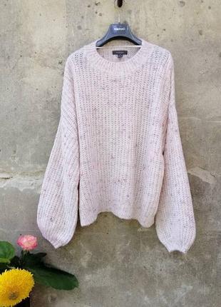 Винтаж свитер оверсайз шерсть осень тренд