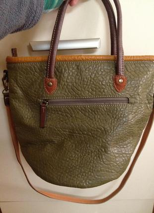 Экокожанная сумка из кусочков2
