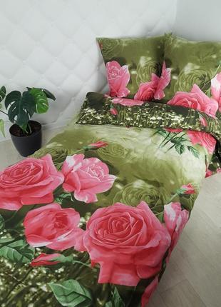 """100 % белорусский хлопок! комплект """"розы в саду"""" все размеры!"""