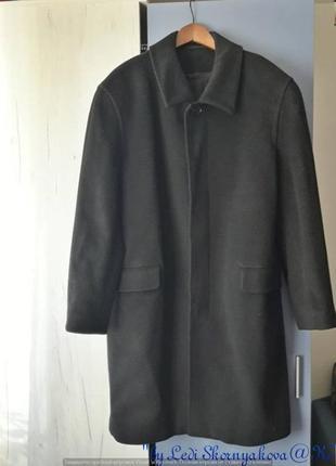 Фирменное zara 100%шерсть и 100% кашемир пальто деми в сером цвете, размер 3хл