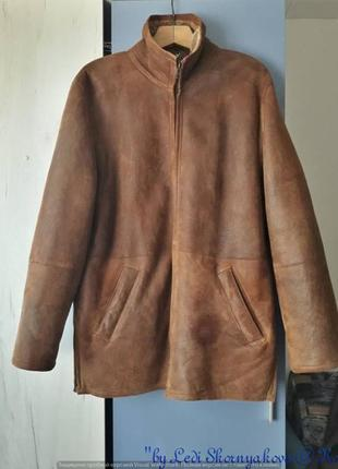 Шикарная тёплая удобная мужская дублёнка с карманами и воротник стоечка, размер л-хл