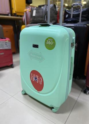 Средний чемодан wings польша, с расширителем