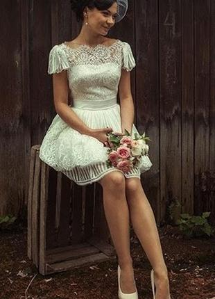 Короткое свадебное/вечернее платье daria karlozi